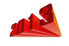 het rood van 2013 Stock Foto