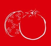 Het Rood van de granaatappel royalty-vrije illustratie