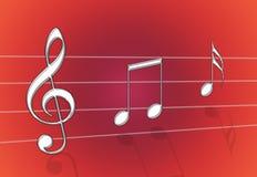 Het Rood van de muziek Stock Fotografie