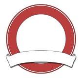 Het rood van de plaque vector illustratie