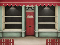 Het rood van de showcase. royalty-vrije illustratie