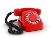 Het rood van de telefoon royalty-vrije illustratie