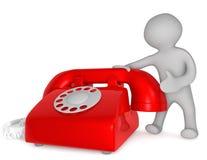Het rood van de Telefoon van de dienst Stock Fotografie