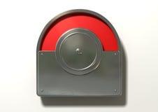 Het Rood van de toiletindicator voor Bezet royalty-vrije stock afbeelding