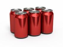Het rood van drankenblikken stock illustratie