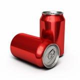 Het rood van drankenblikken vector illustratie