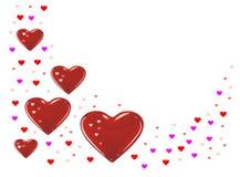 Het rood van harten Royalty-vrije Stock Fotografie