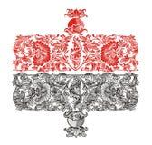 Het rood van het ornament Stock Foto