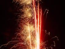 Het rood van het vuurwerk Stock Foto