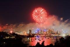 Het Rood van het Vuurwerk van Sy royalty-vrije stock afbeeldingen