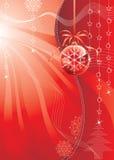 Het Rood van Kerstmis Stock Afbeeldingen
