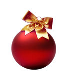 Het rood van Kerstmis van de bal Royalty-vrije Stock Afbeeldingen