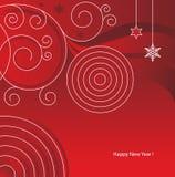Het Rood van New_Year Stock Afbeeldingen