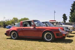 Het rood van Porsche Targa Stock Afbeeldingen