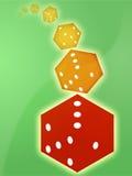 Het rood van Rolling dobbelt illustratie Royalty-vrije Stock Afbeelding