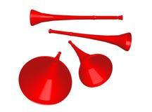 Het Rood van Vuvuzela Royalty-vrije Stock Afbeelding