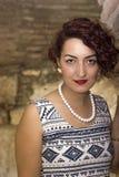 Het roodharige, mooie vrouw glimlachen Royalty-vrije Stock Afbeelding