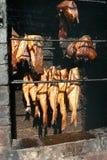 Het rookhok van vissen Stock Foto's