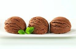 Het roomijs van de chocolade Stock Foto's