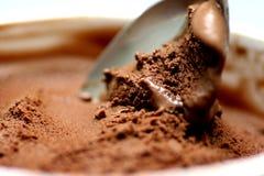 Het roomijs van de chocolade Stock Foto