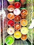 Het roomijs van fruitthailand stock foto's