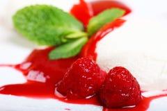 Het roomijs van het dessert Stock Afbeeldingen