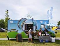 Het roomijsvrachtwagen van Ben&Jerry - 4 Juli, 2016, Liberty State Park, stock foto's