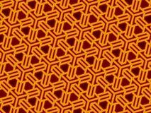 Het rooster van de kubus met neoneffect royalty-vrije illustratie
