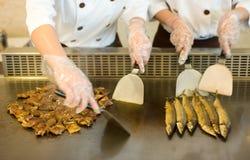 Het roosteren teppanyaki Stock Afbeelding