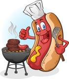 Het Roosteren van de hotdog Royalty-vrije Stock Foto