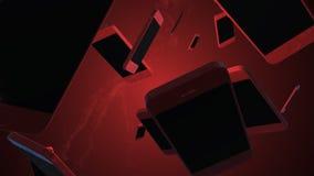Het roteren smartphone 3D animatie Heeft bezwaar spinnend stock illustratie