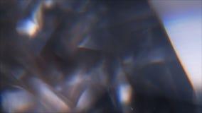 het roterende visuele effect van het ijskristal stock footage