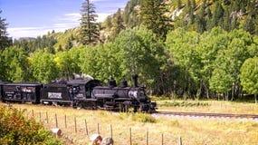 Het rotsachtige Avontuur van de Trein van de Berg royalty-vrije stock foto's