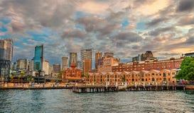 Het Rotsendistrict, de stadscentrum van Sydney Sydney, Australië royalty-vrije stock afbeelding