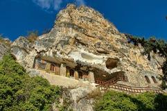 Het rotsklooster St Dimitrii van Basarbovo Royalty-vrije Stock Foto's