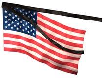 Het Rouwen van de V.S. Vlag royalty-vrije illustratie