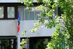 Het rouwen vlag Royalty-vrije Stock Afbeeldingen