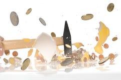 Het roven van het spaarvarken Stock Afbeeldingen