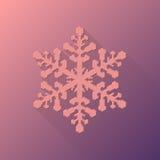 Het roze Abstracte Teken van de Kerstmissneeuwvlok Stock Afbeelding