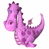 Het roze Beeldverhaal van de Draak Stock Afbeelding