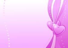 Het roze behang van de valentijnskaart Royalty-vrije Stock Foto's