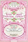 Het roze Bloemen Uitstekende Huwelijk nodigt uit vector illustratie