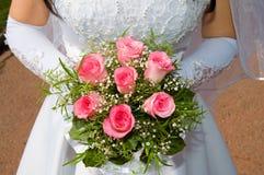 Het roze boeket van het huwelijk Royalty-vrije Stock Foto's