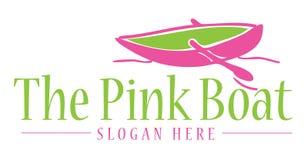 Het roze bootteken Stock Afbeelding