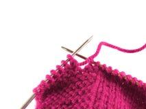 Het roze Breien Stock Afbeeldingen
