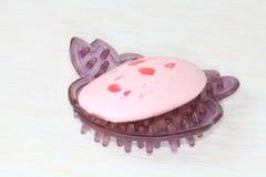 Het roze van de zeep. Royalty-vrije Stock Afbeelding