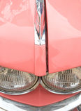 Het roze detail van de jaren '60auto stock afbeeldingen