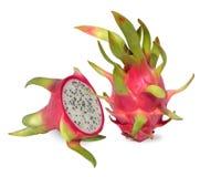 Het roze draakfruit is rijk aan vitamine C stock afbeelding