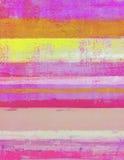 Het roze en Oranje Abstracte Schilderen van de Kunst royalty-vrije stock fotografie