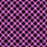 Het roze en Zwarte naadloze patroon van de houthakkersplaid, vectorillustratie eps10 stock illustratie